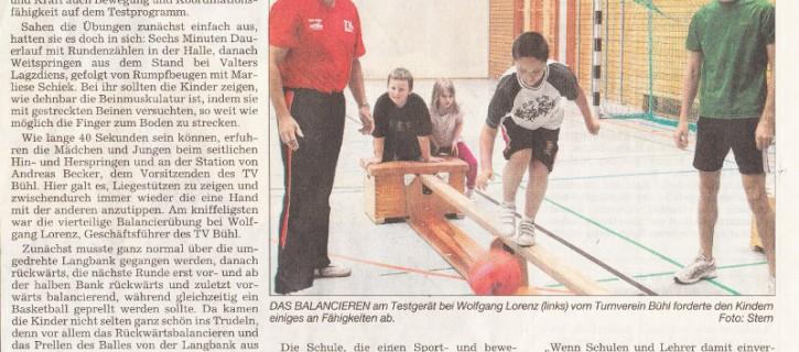 Fitnesstest an der Rheintalschule