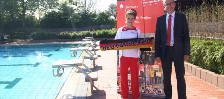Giulia schwimmt für Deutschland