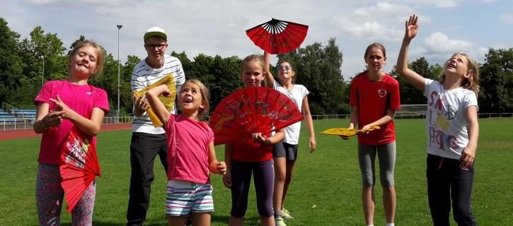 Kung Fu Fan im Ferienprogramm