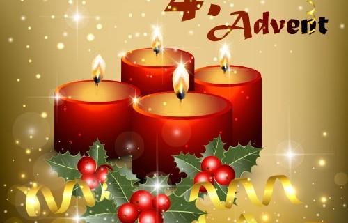 Die 4. Kerze brennt